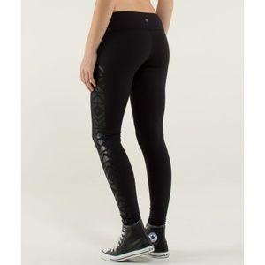 Lulu Wunder Under Pants *Print Black Skinny Yoga 6